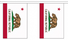 CALIFORNIA (U.S. STATE) BUNTING - 3 METRES 10 FLAGS